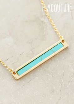 Hurry and get our new bar necklace! www.LaCouture.com