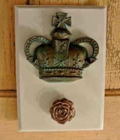 Crown and Rose Wall Hook