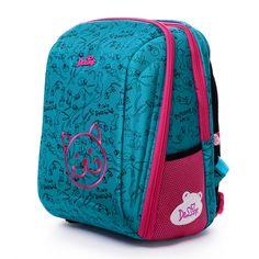 Delune Brand Kids Cartoon School Bags Children Orthopedic Primary School Backpacks Girls Boys School Bags For 1-4 Grade Students