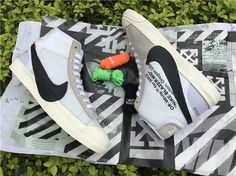OFF WHITE X NIKE BLAZER STUDIO MID Black 2018 AA3832 001 Virgil