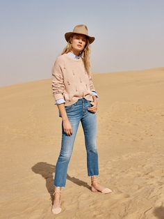 madewell tassel pullover sweater worn with the cali demi-boot jeans + madewell x biltmore® leather-band felt fedora.