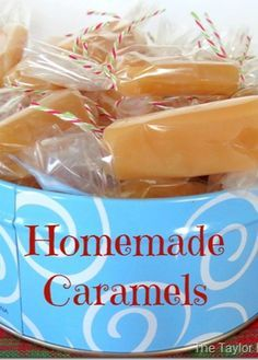 Homemade caramels recipe, Holiday Candy recipe, Christmas treats, Homemade caramels with whipping cream, Holiday gift idea Holiday Candy, Holiday Treats, Christmas Treats, Holiday Recipes, Christmas Candy, Christmas Recipes, Christmas Goodies, Homemade Caramel Recipes, Homemade Caramels