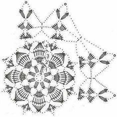 "The motif ""The Great Star"" Crochet Santa, Crochet Stars, Christmas Crochet Patterns, Holiday Crochet, Crochet Snowflakes, Christmas Knitting, Crochet Patterns Amigurumi, Crochet Diagram, Crochet Motif"