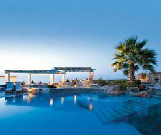 Not only do the Anemomilos Apartments in Cyclades, Greece serve as home for this gorgeous pool, they're also an affordable place to stay!