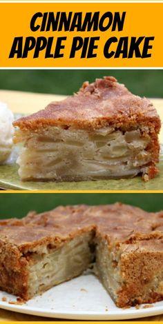 Cinnamon Apple Pie Cake recipe from RecipeGirl.com #cinnamon #apple #pie #cake #recipe #RecipeGirl Apple Pie Recipes, Baking Recipes, Sweet Recipes, Pumpkin Recipes, Cookie Recipes, Apple Pie Cake, Apple Cakes, Apple Pie Cupcakes, Apple Pie Bread