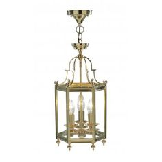 The Lighting Book MOORGATE brass gold traditional hall ceiling lantern   code:DAR-MOO0340 £174.00