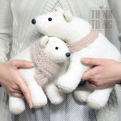 Bear Toy, Teddy Bear, Felt Animals, Needle Felting, Cushions, Handmade, Bears, Plushies, Manualidades