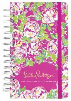 Cahoon's Closet - Lilly Pulitzer 2014-15 Medium Agenda - Lilly Lovers, $22.00   (http://www.cahoonscloset.com/shop-by-category/stationery-calendars/lilly-pulitzer-2014-15-medium-agenda-lilly-lovers/)