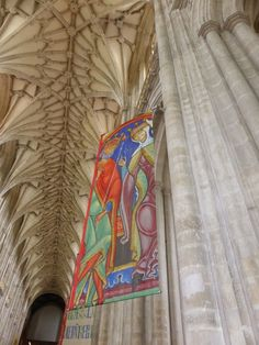 Beautiful banners in Winchester Cathedral Hampshire