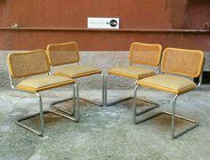 Sedie Cesca Gavina con seduta imbottita. Set di 4. Misure Gavina 48x54x79h #magazzino76 #viapadova #Milano #nolo #viapadova76 #M76 #modernariato #vintage #industrialdesign #industrial #industriale #furnituredesign #furniture #mobili #modernfurniture #antik #antiquariato #armchair #chair #sofa #poltrone #divani #tavoli #table
