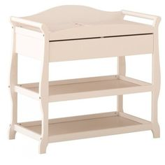 Stork Craft Aspen Sleigh Changing Table with Drawer (€140) ❤ liked on Polyvore featuring home, children's room, children's furniture, nursery furniture and white