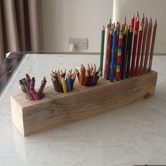 Wooden Pencil & Crayon Desk Tidy £9.00