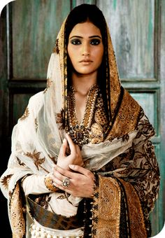 White, black and gold, timeless. #salwar #dupatta :: ADAAH COUTURE ::