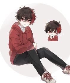 Anime Oc, Anime Chibi, Pelo Anime, Anime Kawaii, Manga Anime, Manga Boy, Dark Anime Guys, Cool Anime Guys, Cute Anime Boy