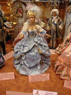 An OOAK Marie Antoinette Barbie pretty much a replica of the Mattel version!
