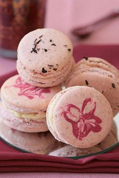 Cherry Blossom and Hibiscus Macarons