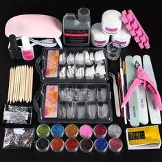 COSCELIA Acrylic Nail Kit With Lamp