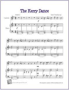 The Kerry Dance | Free Sheet Music for Clarinet - http://makingmusicfun.net/htm/f_printit_free_printable_sheet_music/kerry_dance_clarinet.htm