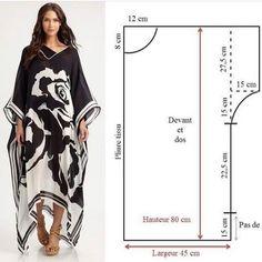 Dress Sewing Patterns, Sewing Patterns Free, Clothing Patterns, Diy Clothing, Sewing Clothes, Fashion Sewing, Diy Fashion, Abaya Pattern, Kimono Pattern