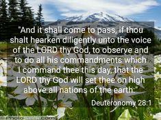 Deuteronomy 28:1 KJV