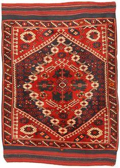 Antique Bergama rug, Turkish.