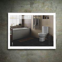 Aluminum Framed LED Illuminated Wall Mirror for Bathroom