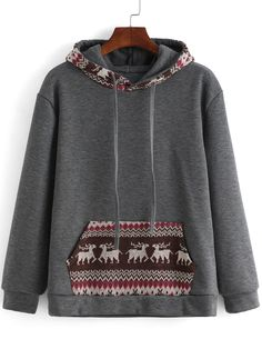 Cozy Hoodie grey in color. Good condition. Very comfortable. One size but fit well.Tops Sweatshirts &Tribal Print  Hoodies