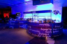 Custom printed bar - Lit Bar - Event Branding - Raise the Bar - Rent this bar for your wedding or event from Marbella Event Furniture and Decor Rental ©2015 JOEY KENNEDY