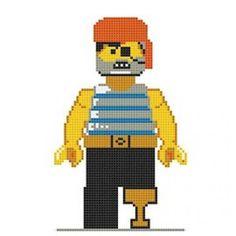 Lego Pirate Cross Stitch Kit