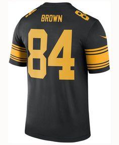 dfdcdb28b Nike Men s Antonio Brown Pittsburgh Steelers Legend Color Rush Jersey -  Black S