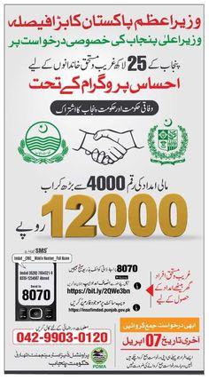 Punjab Insaf Imdad Program Punjab apply online | Pakword