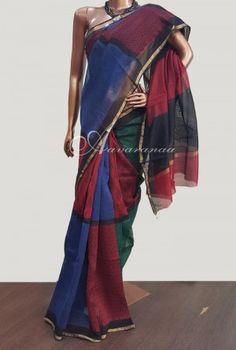 Sarees are good if you have to go for a family function and professional party. Maheshwari sarees are light-weight and give decent look. So purchase maheswari saree online at Aavaranaa.