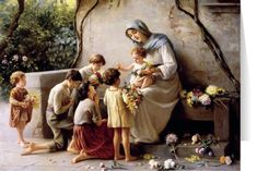 Adoration (Mary and Jesus with Children) by Giuseppe Magni Christmas Cards (25 Cards)