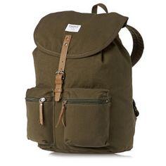 ££Sandqvist Roald Ground Backpack - Olive | Free UK Delivery*