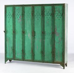 What better way to add extra storage to your living space than by upcycling old, salvaged lockers? Paint them whatever color you choose, or . Vintage Lockers, Metal Lockers, Industrial Design Furniture, Industrial Chic, Reclaimed Furniture, Repurposed Furniture, Furniture Projects, Home Furniture, Furniture Stores