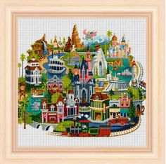 Disneyland Map cross stitch pattern PDF pattern by NeniDesign