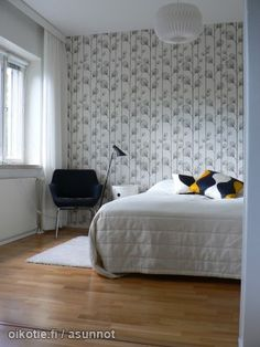 Myytävät asunnot, Pajamäentie 1 Pitäjänmäki, Pajamäki, Länsi-Helsinki #skandinaavinen #makuuhuone #oikotieasunnot