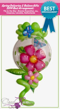 Discover the best Spring Balloon Creations on The Very Best Balloon Blog #balloon #qualatex #flower