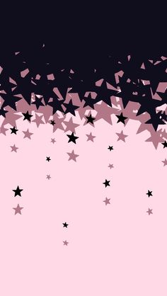 Black and pink stars