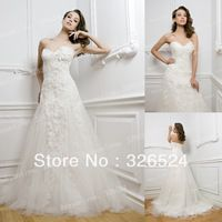 2013 New Fashion Sweetheart  Lace Applique a-line  wedding dress Bridal dress BS1872
