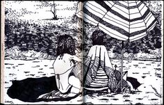Spain (July by Jonathan Twingley, via Behance Sharpie, Painting & Drawing, Behance, Drawings, Artist, Artwork, Sketchbooks, Travel, Sketching
