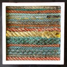 collected ocean washed up #ropes, framed; Completely Coastal Decor Ideas