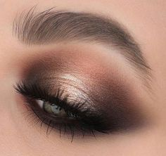 Makeup Artist Training than Smokey Eye Makeup For Brown Eyes And Tan Skin; Bridal Smokey Eye Makeup Tutorial off Makeup Brushes For Foundation Copper Eyeshadow, Eyeshadow For Blue Eyes, Eyeshadow Looks, Eyeshadow Makeup, Makeup Brushes, Eyeliner, Smoky Eye For Blue Eyes, Copper Eye Makeup, Neutral Smokey Eye