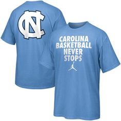 Nike North Carolina Tar Heels (UNC) Basketball Never Stops T-Shirt - Carolina Blue