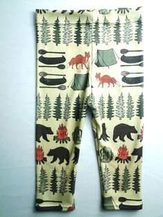 Sweet Kiddo camping leggings, organic cotton, modern leggings