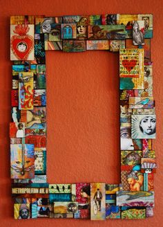 puzzle pieces, jewelry, used gift cards, greeting cards... endless possibilities for materials