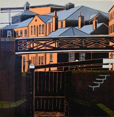 Paul Hipkiss, featured in our February/March Exhibition 2015 'Birmingham Uncovered' Cityscape Art, Architecture Drawings, Black And White Illustration, Linocut Prints, Travel Posters, Digital Illustration, Birmingham, Contemporary, Printmaking Ideas