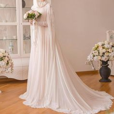 183 Likes, 5 Comments - Tesettür Gelinlikler (islam rüçhan çelik. Wedding Abaya, Hijabi Wedding, Wedding Hijab Styles, Muslimah Wedding Dress, Wedding Dressses, Muslim Brides, Pakistani Wedding Dresses, Dream Wedding Dresses, Bridal Dresses