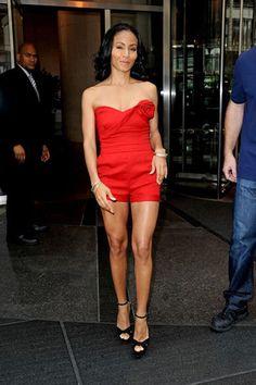 Jada Pinkett Smith Hot | Jada Pinkett Smith looks red hot in tiny romper