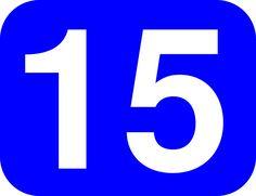Resultado de imagem para numero 15